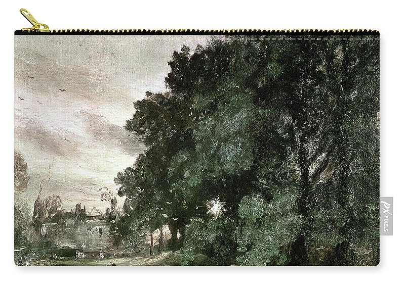 Study Carry-all Pouch featuring the painting Study Of Trees by John Constable