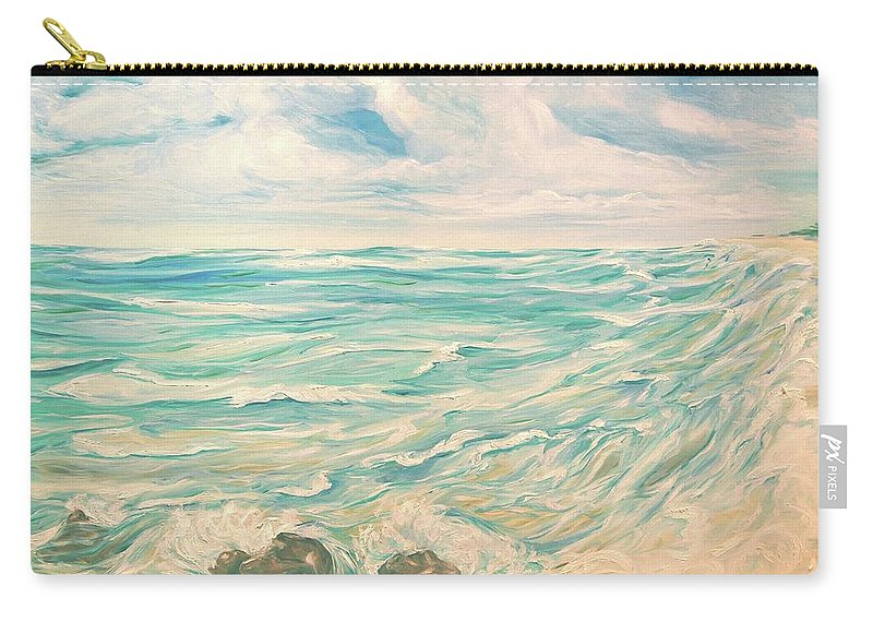Ocean Carry-all Pouch featuring the painting Study Of Tropical Blue by Jennifer Christenson