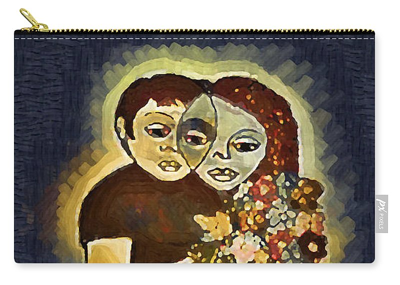 Love Invention Carry-all Pouch featuring the digital art Study To Invention Of Love by Madalena Lobao-Tello
