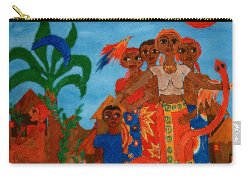 Study Carry-all Pouch featuring the painting Study To Motherland A Place Of Exile by Madalena Lobao-Tello