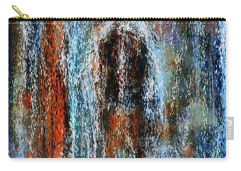 Carry-all Pouch featuring the digital art Stump Revealed by David Lane