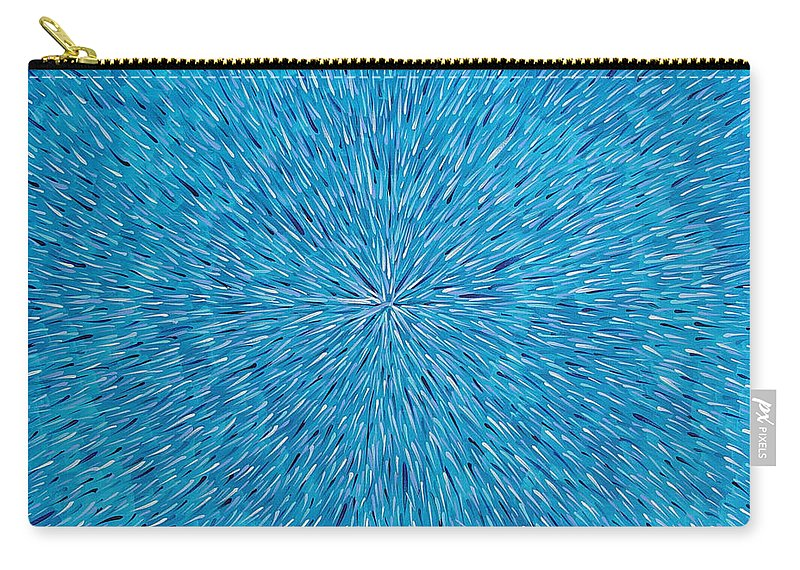 Abstract Carry-all Pouch featuring the painting Su Gaia Rain by Dean Triolo