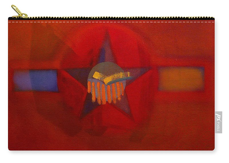 Warm Carry-all Pouch featuring the painting Sub Decal by Charles Stuart