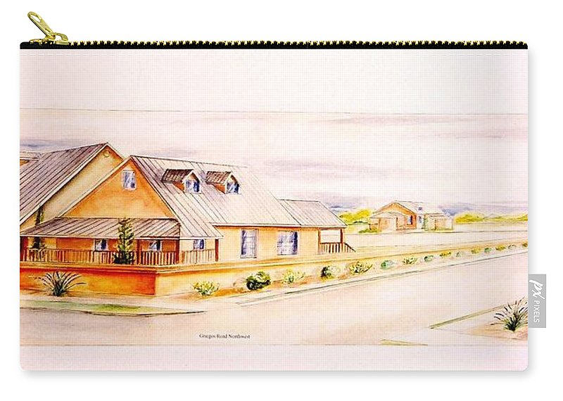 Architectural Renderings Carry-all Pouch featuring the painting Subdivison Rendering by Eric Schiabor