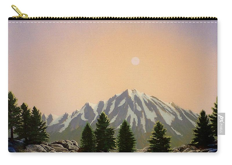 Landscape Carry-all Pouch featuring the painting Sublime Sierra Light by Frank Wilson