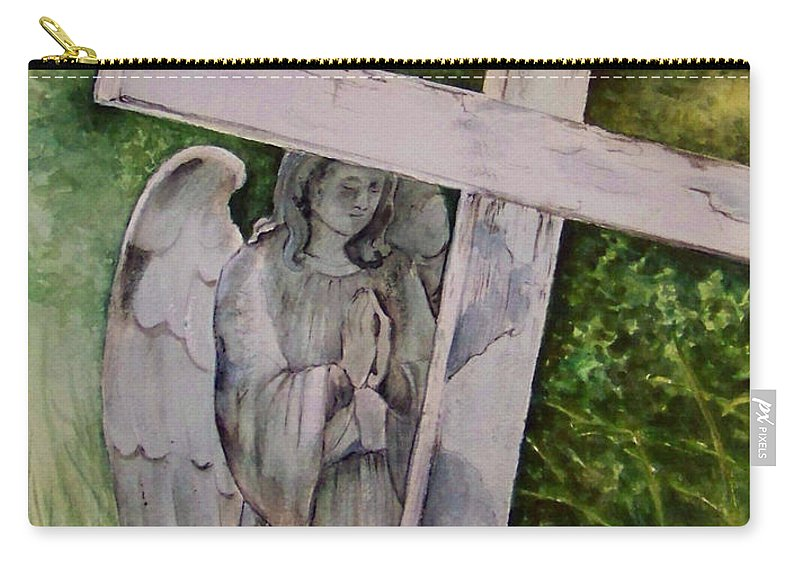 Watercolor Carry-all Pouch featuring the painting Sublime Watcher by Brenda Owen