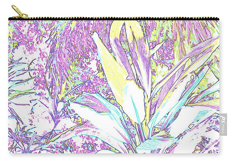 Abstract Carry-all Pouch featuring the photograph Subtle Leaf by Ian MacDonald