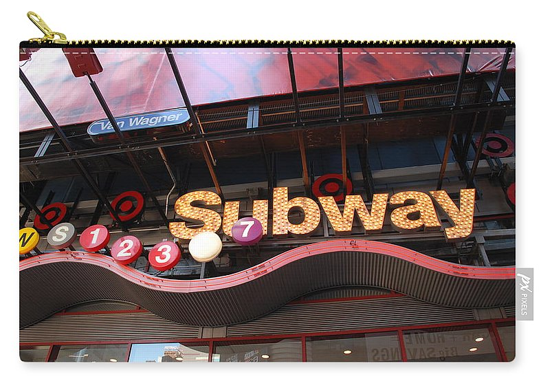 Neon Carry-all Pouch featuring the photograph Subway by Rob Hans