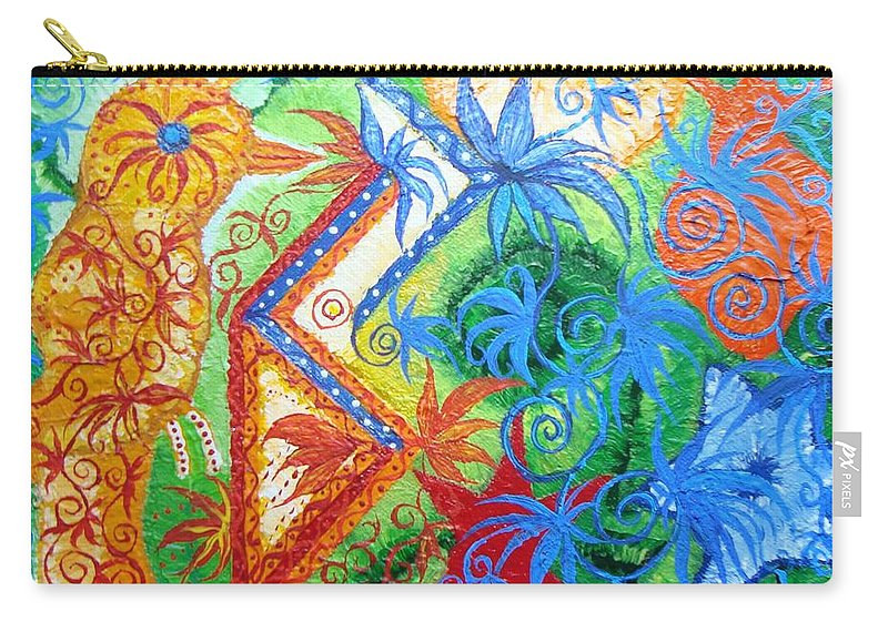 Runes Carry-all Pouch featuring the painting Success From Project by Joanna Pilatowicz