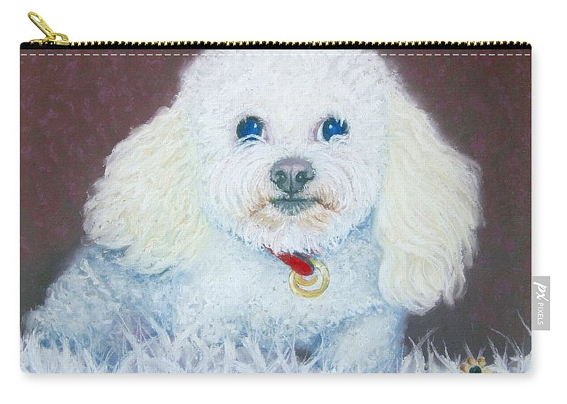 Dog Carry-all Pouch featuring the painting Such A Charm by Minaz Jantz