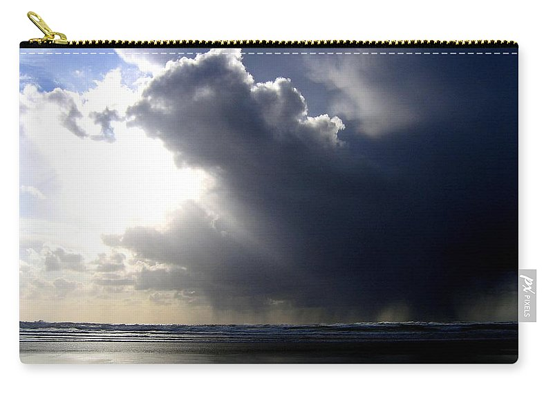 Squall Carry-all Pouch featuring the photograph Sudden Squall by Will Borden