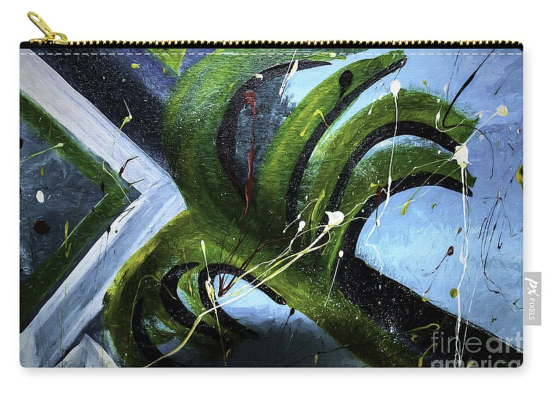 Sudden Carry-all Pouch featuring the photograph Sudden Storm by Mim White