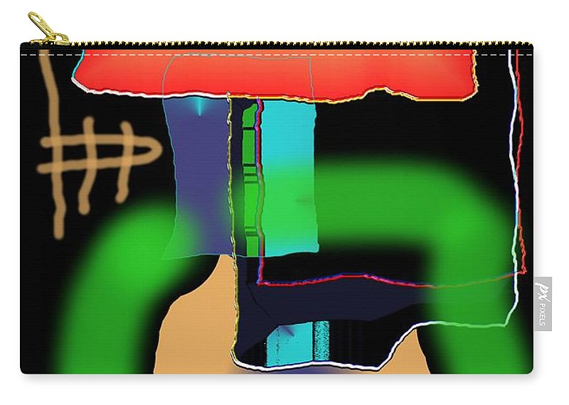 Mouse Carry-all Pouch featuring the digital art Suddenclicks by Helmut Rottler