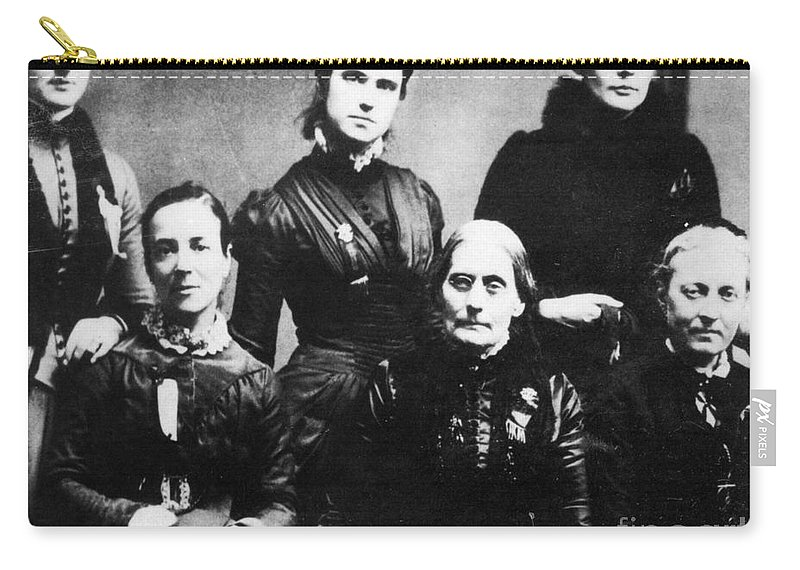 1888 Carry-all Pouch featuring the photograph Suffragettes, 1888 by Granger