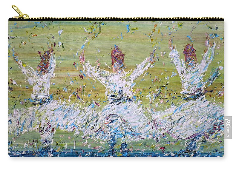 Sufi Carry-all Pouch featuring the painting Sufi Whirling by Fabrizio Cassetta