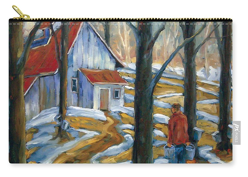 Suga Carry-all Pouch featuring the painting Sugar Bush by Richard T Pranke