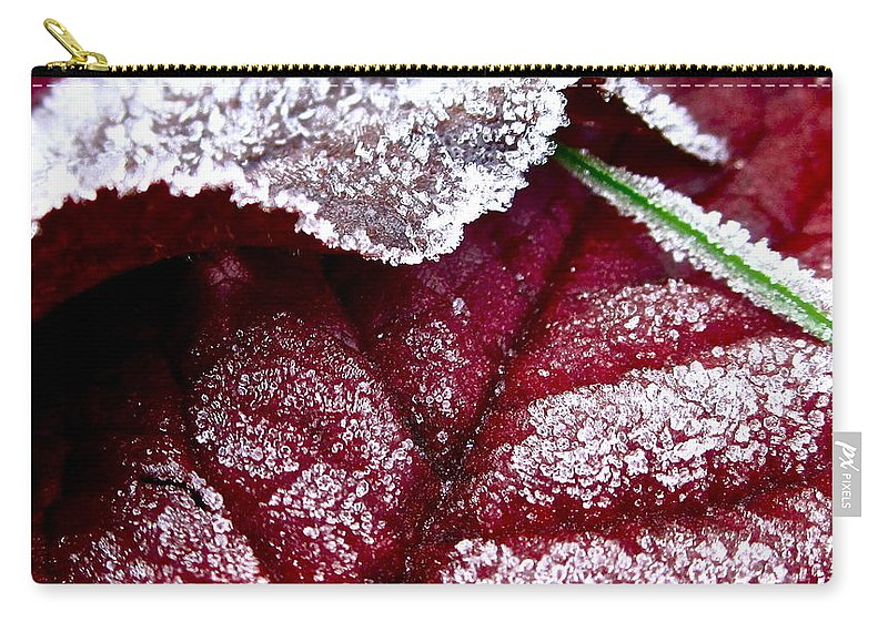 Leaf Carry-all Pouch featuring the photograph Sugar Coated Morning by Gwyn Newcombe