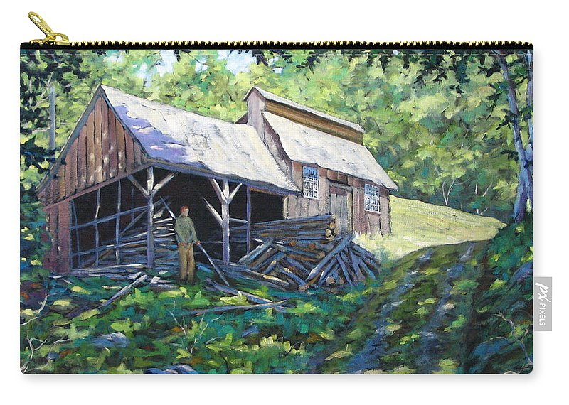 Sugar Shack Carry-all Pouch featuring the painting Sugar Shack In July by Richard T Pranke