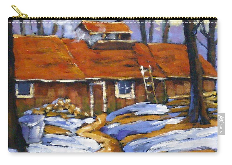 Sugar Shack Carry-all Pouch featuring the painting Sugar Time by Richard T Pranke