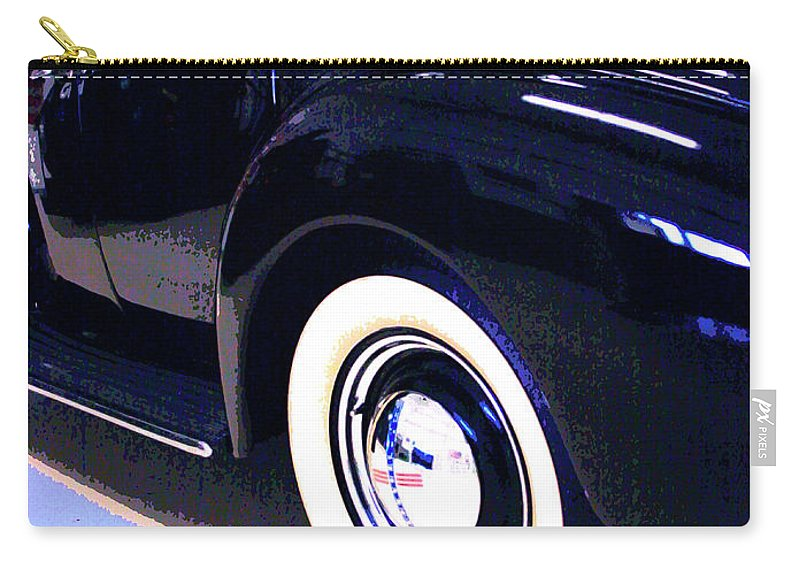 Black Car Carry-all Pouch featuring the photograph Suicide Doors by William Dey