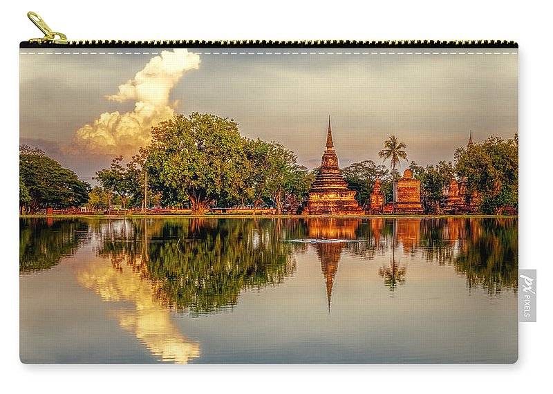 Architecture Carry-all Pouch featuring the photograph Sukhothai Park by Maria Coulson
