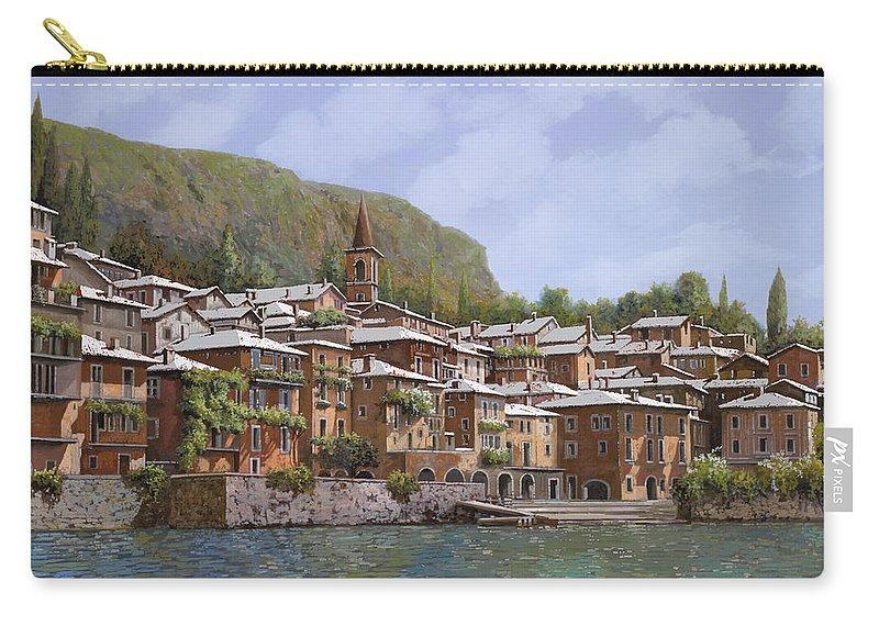 Lake Como Carry-all Pouch featuring the painting Sul Lago Di Como by Guido Borelli