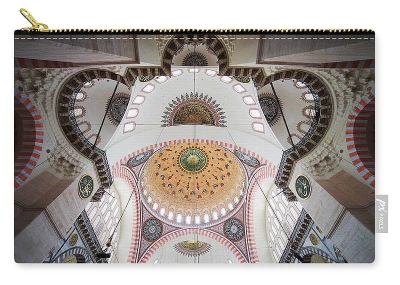 Arch Carry-all Pouch featuring the photograph Suleymaniye Mosque Ceiling by Artur Bogacki