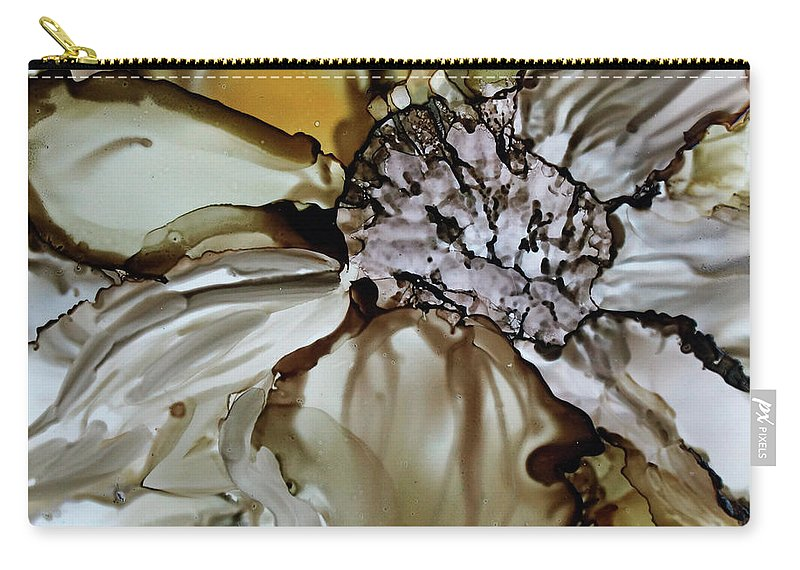 Floral Carry-all Pouch featuring the painting Sultry Petals by Jo Smoley