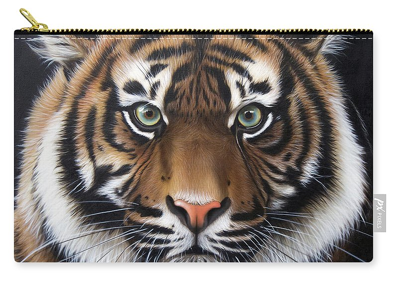 Sandi Baker Carry-all Pouch featuring the painting Sumatran 2 by Sandi Baker