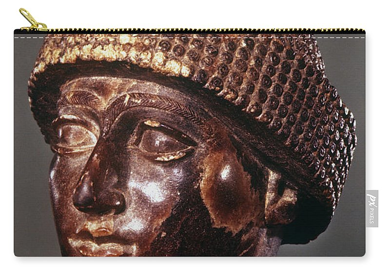 2100 B.c. Carry-all Pouch featuring the photograph Sumer: Ur-ningirsu by Granger