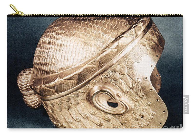 2500 B.c. Carry-all Pouch featuring the photograph Sumerian Gold Helmet by Granger