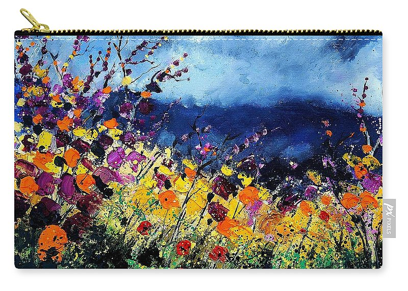 Poppy Carry-all Pouch featuring the painting Summer 45 by Pol Ledent