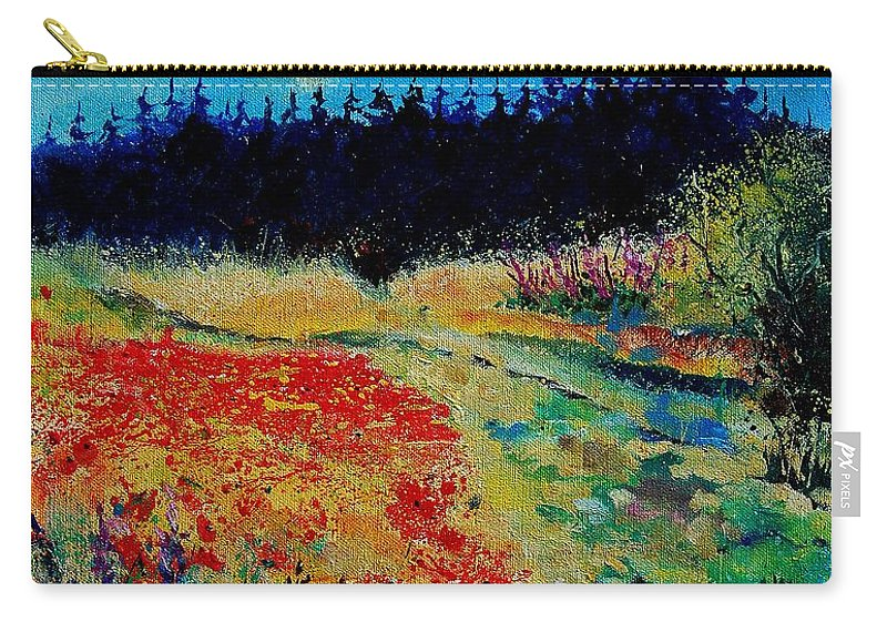 Tree Carry-all Pouch featuring the painting Summer 56 by Pol Ledent