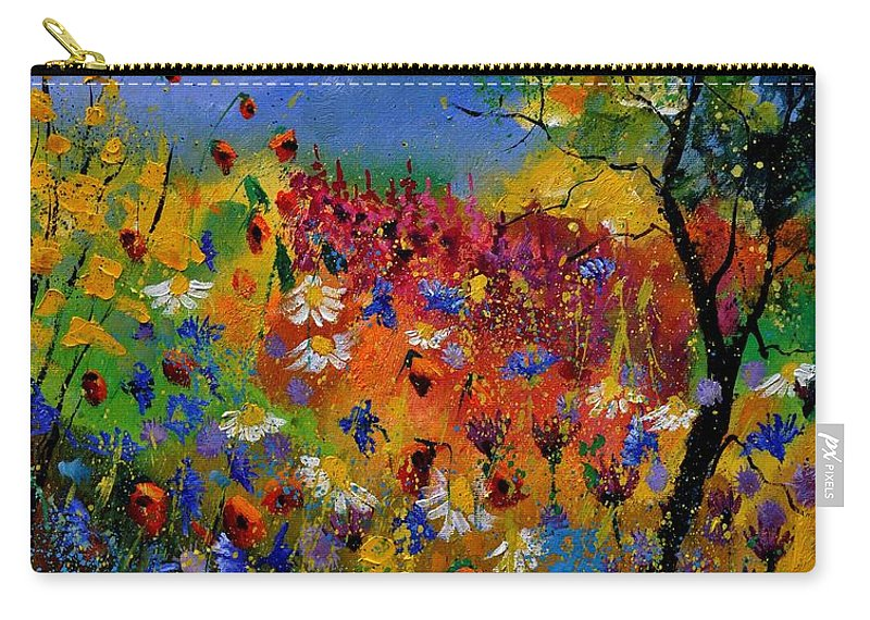 Flowers Carry-all Pouch featuring the painting Summer 670170 by Pol Ledent