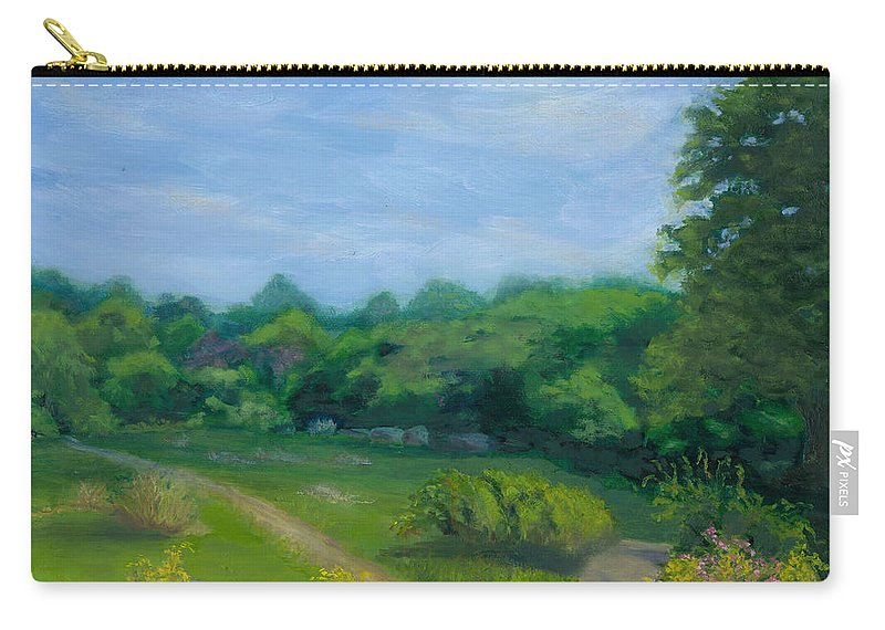 Landscape Carry-all Pouch featuring the painting Summer Afternoon At Ashlawn Farm by Paula Emery