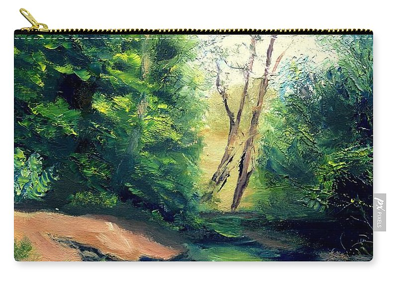 Landscape Carry-all Pouch featuring the painting Summer At Storm by Gail Kirtz