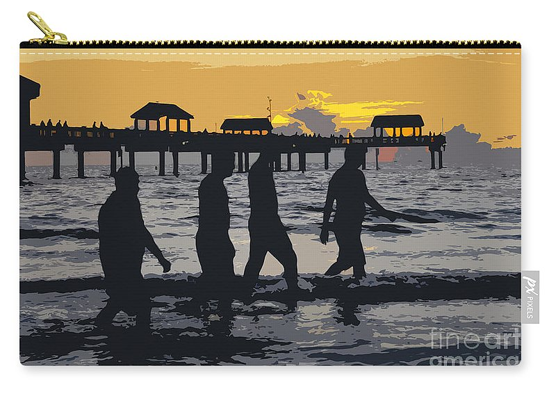 Men Carry-all Pouch featuring the painting Summer At The Beach by David Lee Thompson