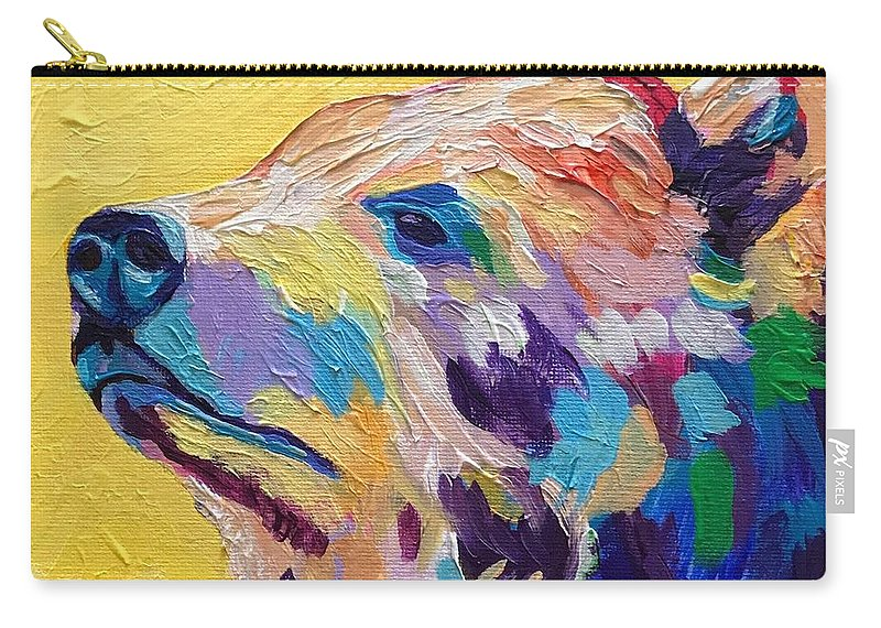 Abstract Carry-all Pouch featuring the painting Summer Bear by Kathi Schwan