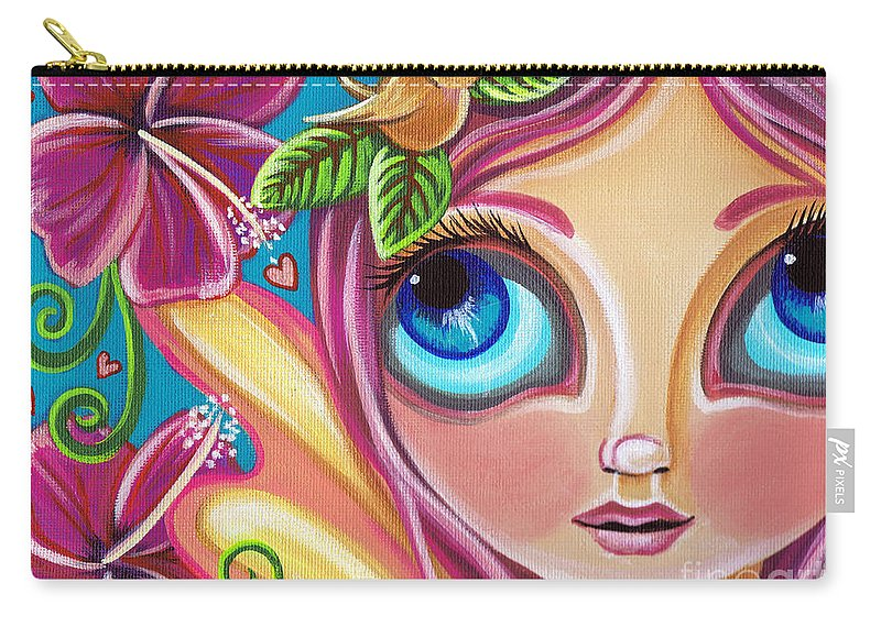 Pink Carry-all Pouch featuring the painting Summer Bliss Fairy by Jaz Higgins