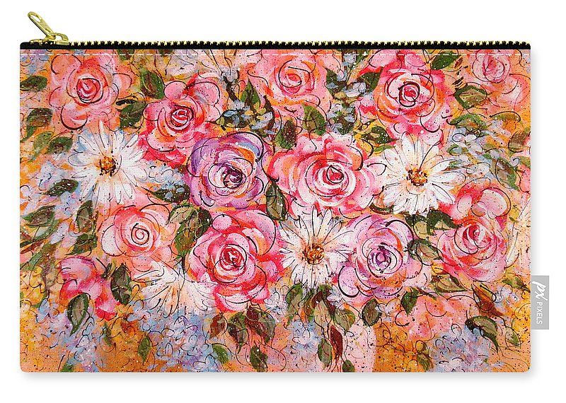 Flowers Carry-all Pouch featuring the painting Summer Bouquet by Natalie Holland