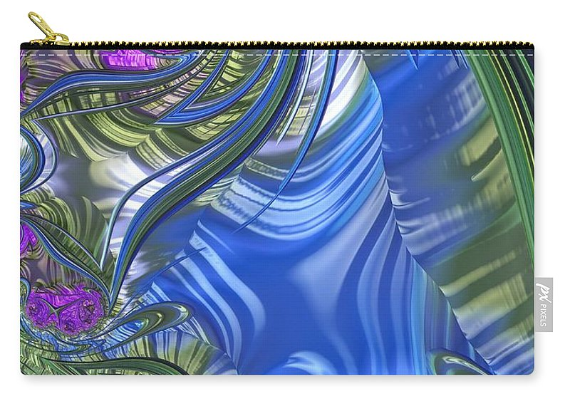 Scarf Carry-all Pouch featuring the digital art Summer Bouquet Rendition 3 by Diane Lindon Coy