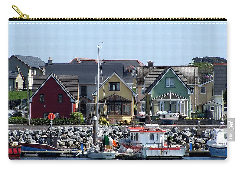 Irish Carry-all Pouch featuring the photograph Summer Cottages Dingle Ireland by Teresa Mucha
