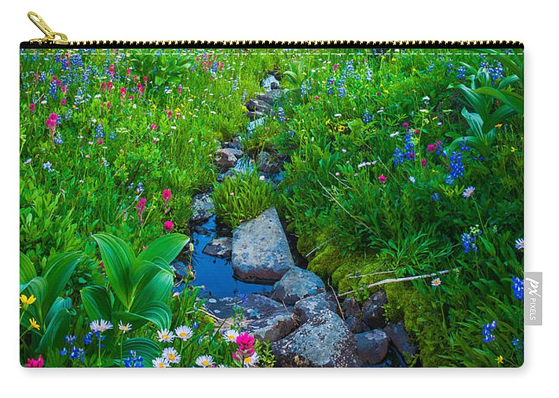 America Carry-all Pouch featuring the photograph Summer Creek by Inge Johnsson