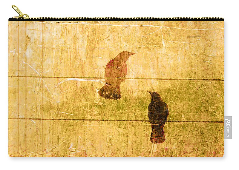 Summer Carry-all Pouch featuring the photograph Summer Crows by Carol Leigh