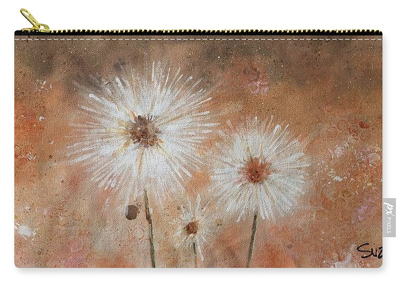 Flowers Carry-all Pouch featuring the painting Summer Dandelions by Suze Moll