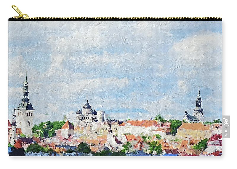 Summer Carry-all Pouch featuring the photograph Summer Day In Tallinn by Pekka Liukkonen