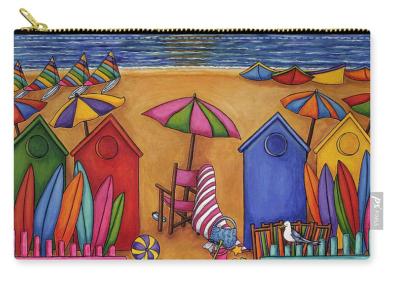 Summer Carry-all Pouch featuring the painting Summer Delight by Lisa Lorenz