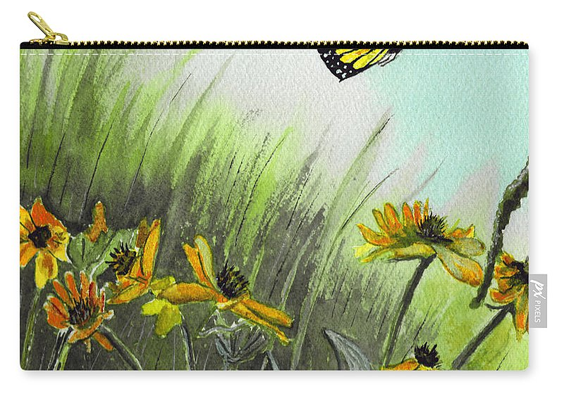 Landscape Carry-all Pouch featuring the painting Summer Flight by Brenda Owen