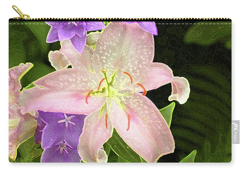 #flower #day Carry-all Pouch featuring the photograph Summer Flowers by Kathleen Struckle