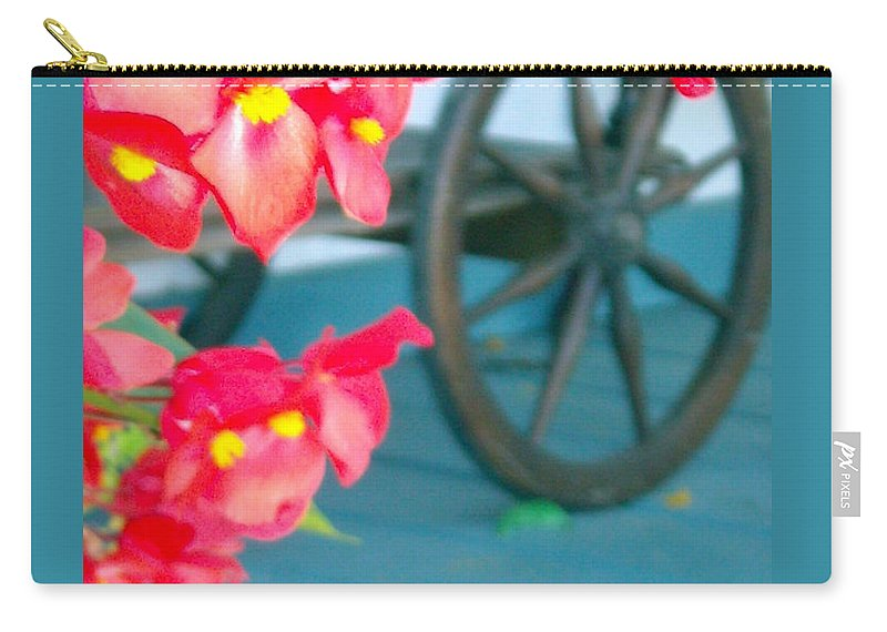 Flowers Carry-all Pouch featuring the photograph Summer Flowers by Line Gagne